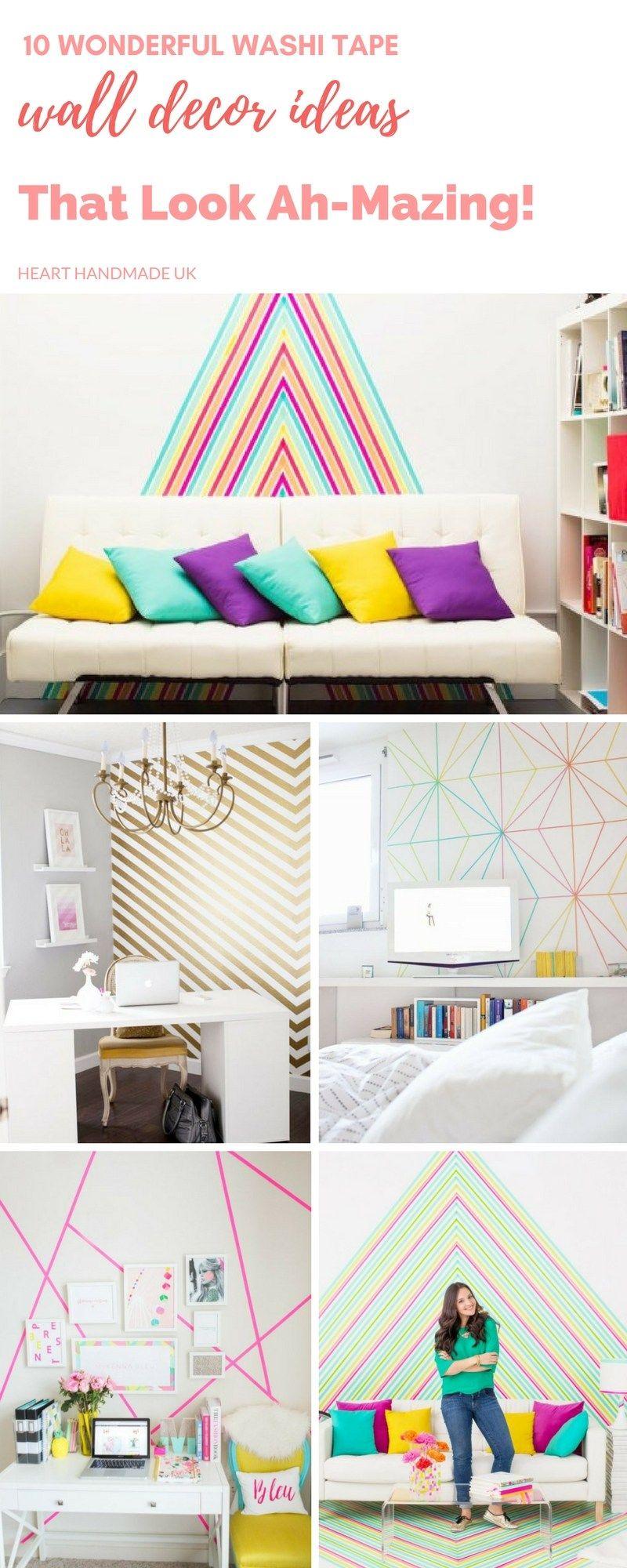 10 Wonderful Washi Tape Wall Decor Ideas That Look Amazing