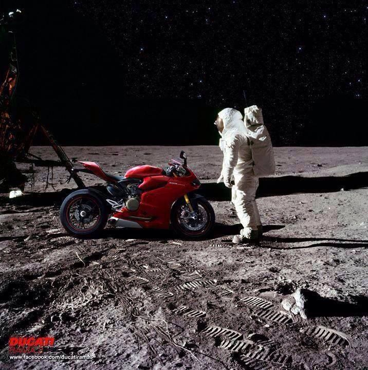 Ducati on the moon