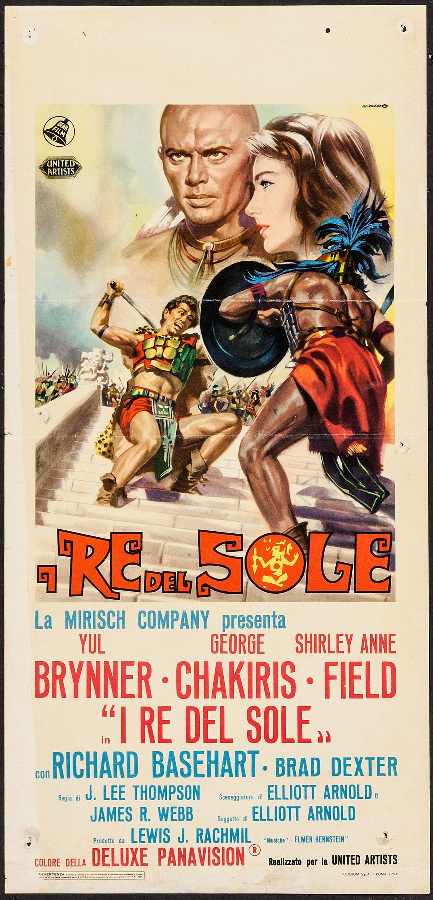 Kings of the Sun (United Artists, 1963). Italian Locandina