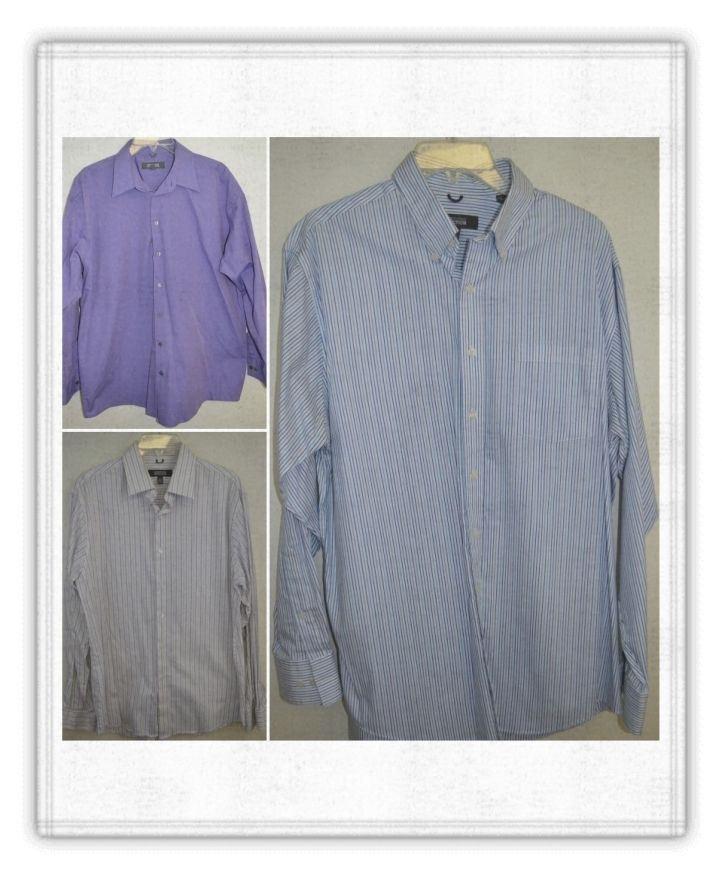 Lot 3 Men's size Large 16-16.5 Kenneth Cole Reaction Shirt Casual Long Sleeve #KennethColeReaction