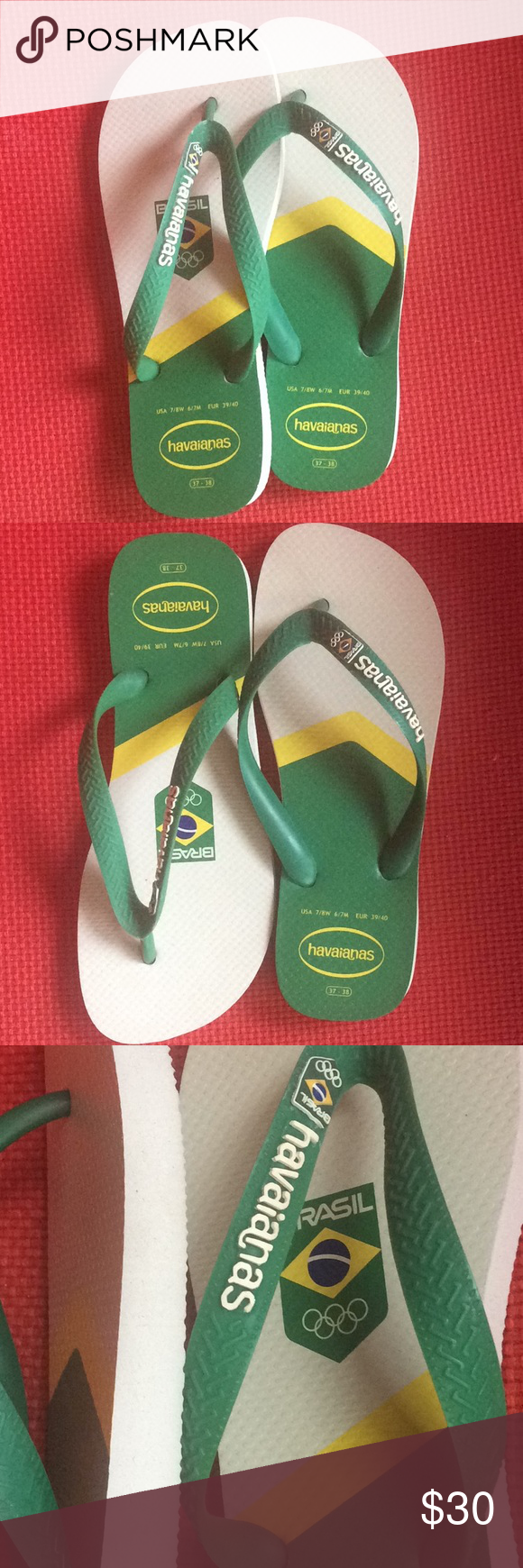 5d5d902b6d3aa Havaianas Flip Flops - Rio 2016 Olympics Edition This is a pair of  Brazilian Flip Flops Havaianas - a limited edition that was made for the  Olympics in Rio ...