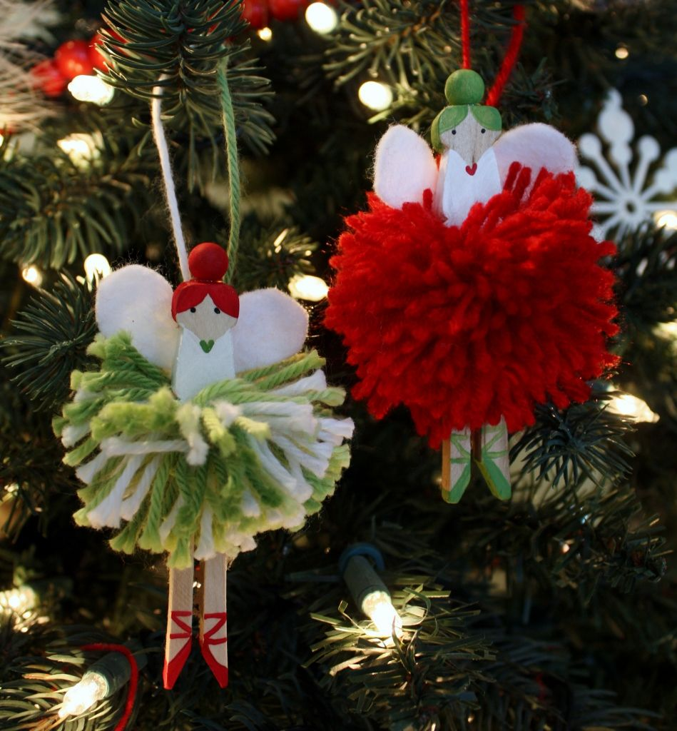 The Pom Pom Ornament Craft That Never Ends: Just What I {squeeze} In: Pom-Pom Fairies For The Tree