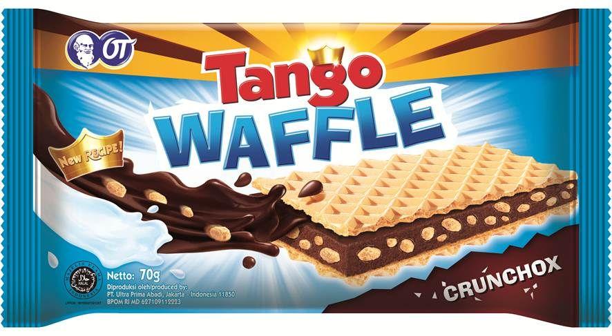 Tango Waffle Crunchox  - Resep BARU Tango WAFFLE dengan Chocolate TEBAL + Milk yang SEMAKIN LEZAT, dipadu dengan Rice Crispy GARING dan Unique Crunchy Waffle yang GAK ADA BANDINGANNYA! Satu? Mana Cukup...!