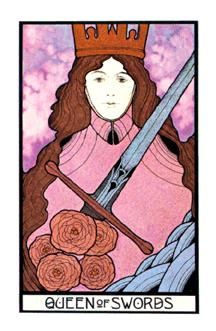 August 17 Tarot Card Queen Of Swords Aquarian Deck Cut Through The Clutter Of Emotions And Be Clear In Your Thoughts And Actions Now