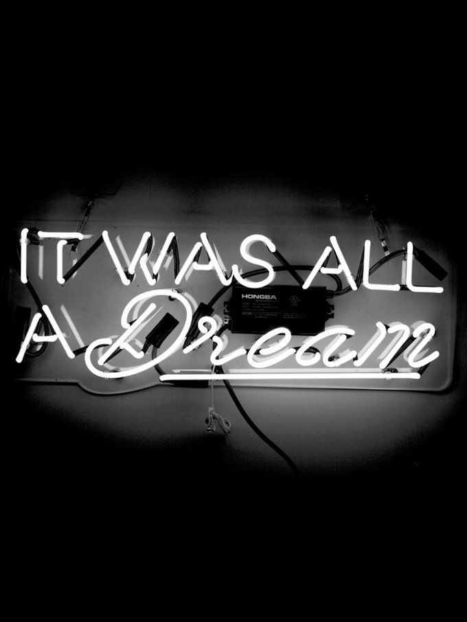 It Was All A Dream Neon Sign Amusing It Was All A Dream Neon Sign  Oliver Gal And Neon 2018