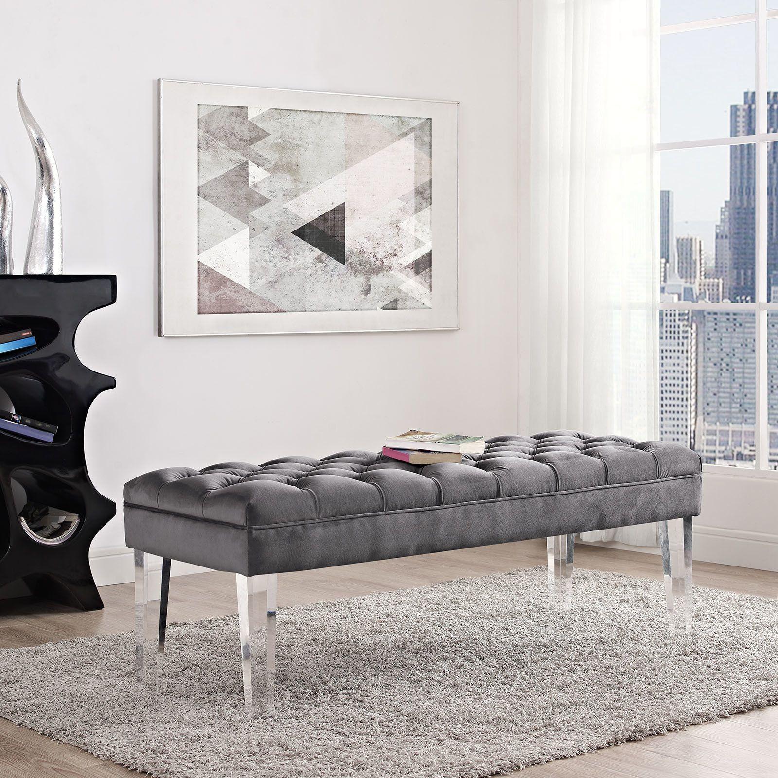 Fashionable Bedroom Refurbish March 2019 Upholstered Bench Upholstered Bench Bedroom Velvet Bench