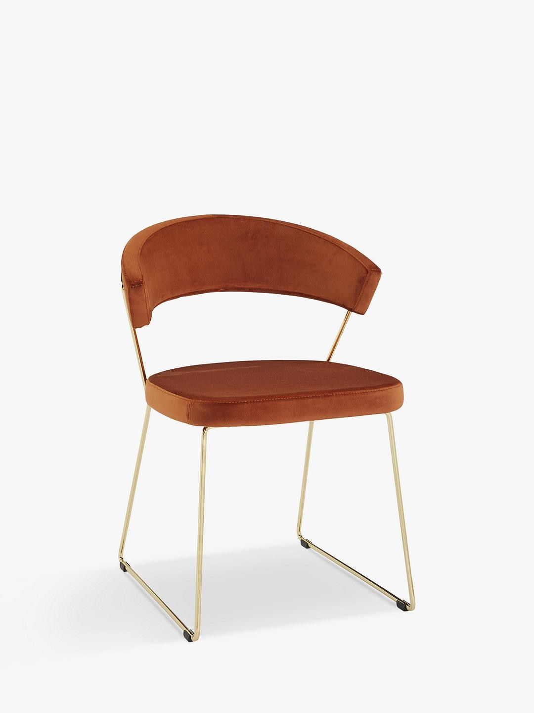 Connubia by Calligaris New York Velvet Dining Chair, Rust ...