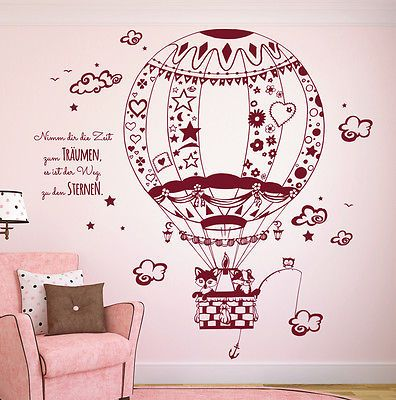 Luxury Wandtattoo Fuchs Waschb r Eule Hei luftballon M in M bel u Wohnen Dekoration Wandtattoos u Wandbilder