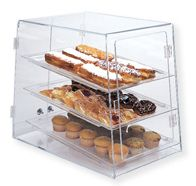 Clear Table Top Pastry Display Case Double Entry Bakery Display Case Bakery Display Pastry Display