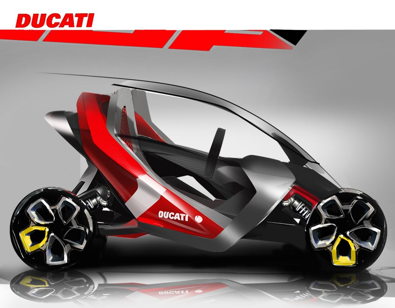 Ducati Electric Car Sketch Tricycle Design Pinte