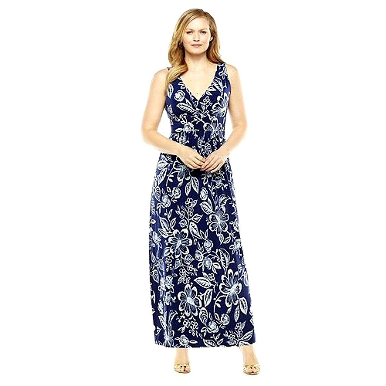 Womens\'s Plus Size Chaps Floral Empire Maxi Dress 18W ...