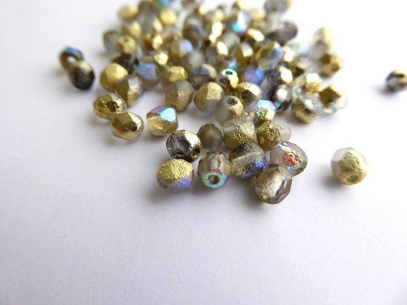 120 x inciso cristallo Golden Rainbow Perline di Snoochy su Etsy