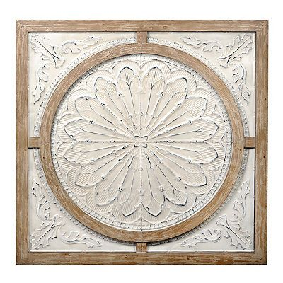 Cream Metal and Wood Medallion Wall Plaque | Kirklands  sc 1 st  Pinterest & Cream Metal and Wood Medallion Wall Plaque | Pinterest | Woods ...