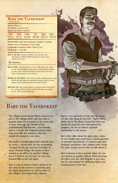 i made a monster manual page for my tavern keep with my own rh pinterest com Dnd Monsters Adventure Time Dad's Dungeon Monsters