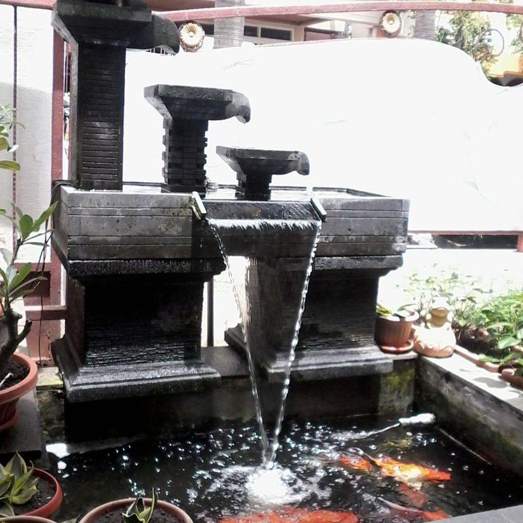 Kolam Ikan Nila Dengan Air Mancur Unik Kolam Ikan Kolam Air Mancur