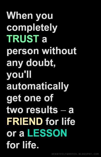 Heartfelt Quotes: #Trust