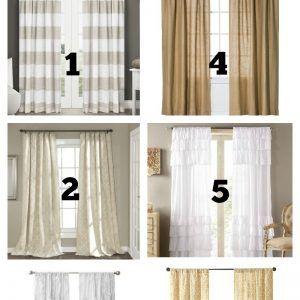 Farmhouse Style Living Room Curtains