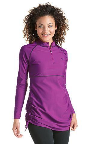 c3d37900972fe UPF 50+ Ruche Swim Shirt  Sun Protective Clothing - Coolibar