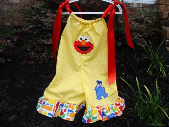 Elmo Pillowcase Romper Capris by MolliePollies on Etsy, $30.00