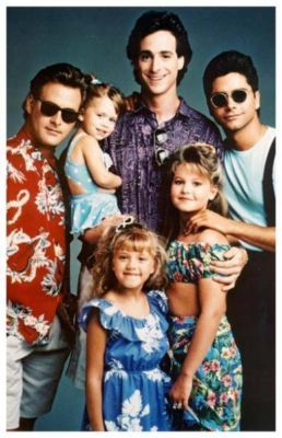 Full House. It would have been completely uncool to admit that I watched this. I'll blame it on my younger sister or my cousins or Uncle Jessie and his fabulous hair.