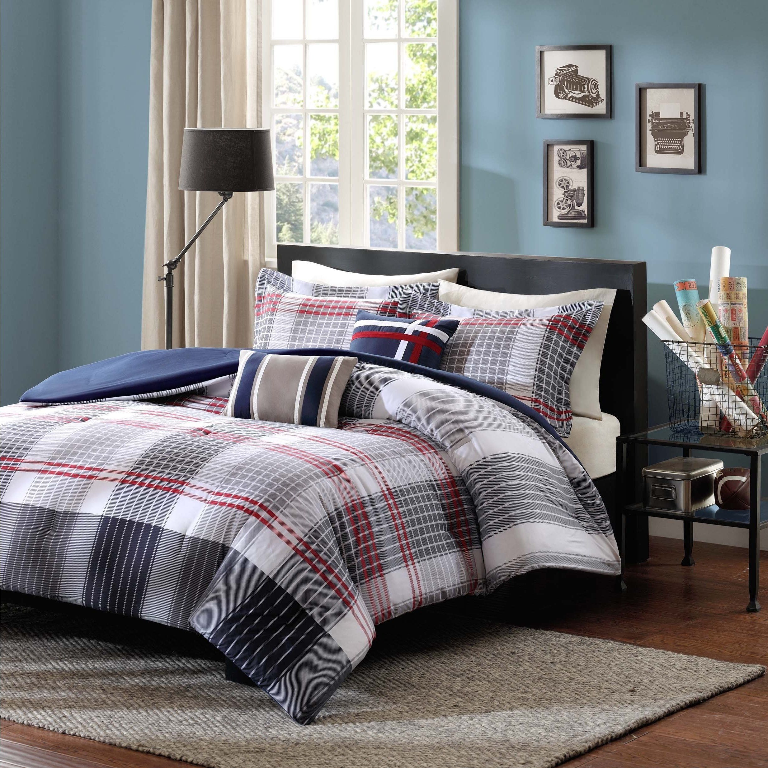 com gray discoverchrysalis comforter photo walmart x and red of black set corell sets piece bedding