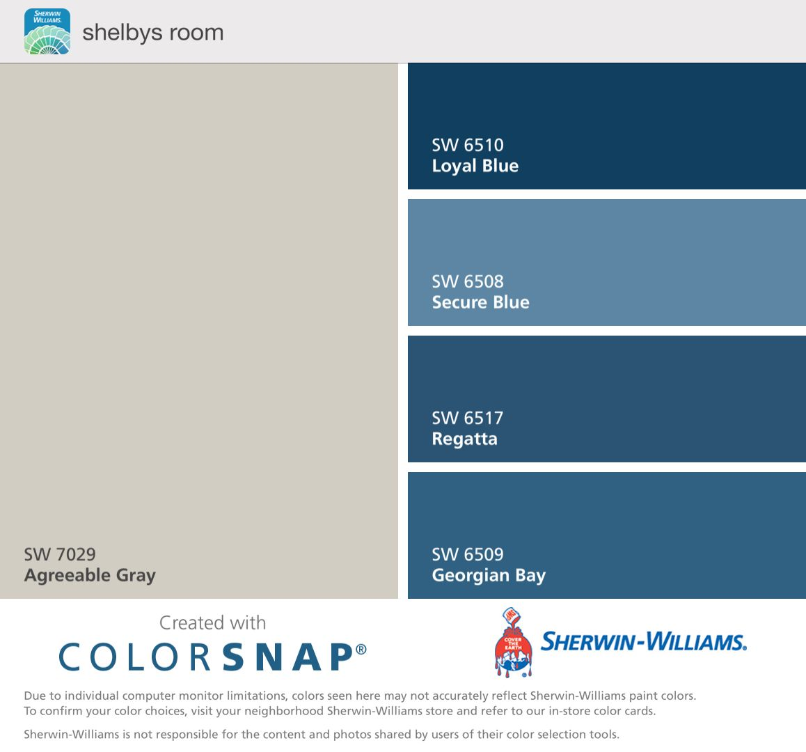 Accent Colors For Grey Walls: Drew's Room, Sw Blues And Agreeable Gray