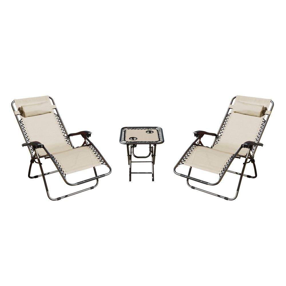 Zero gravity patio set chairs table outdoor patio deck garden