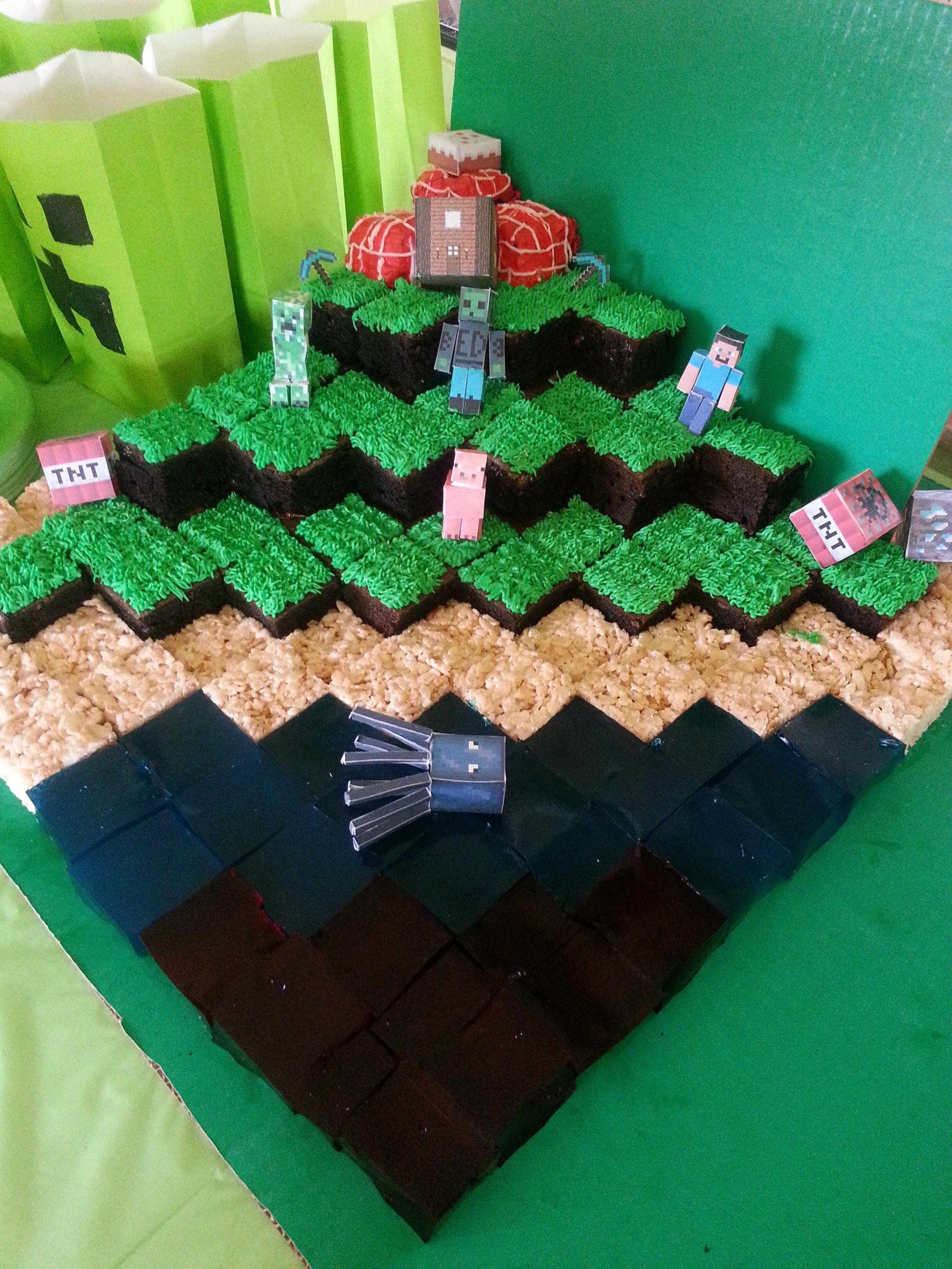 Minecraft Cake for Eddie's 9th Birthday Cakes, Cookies