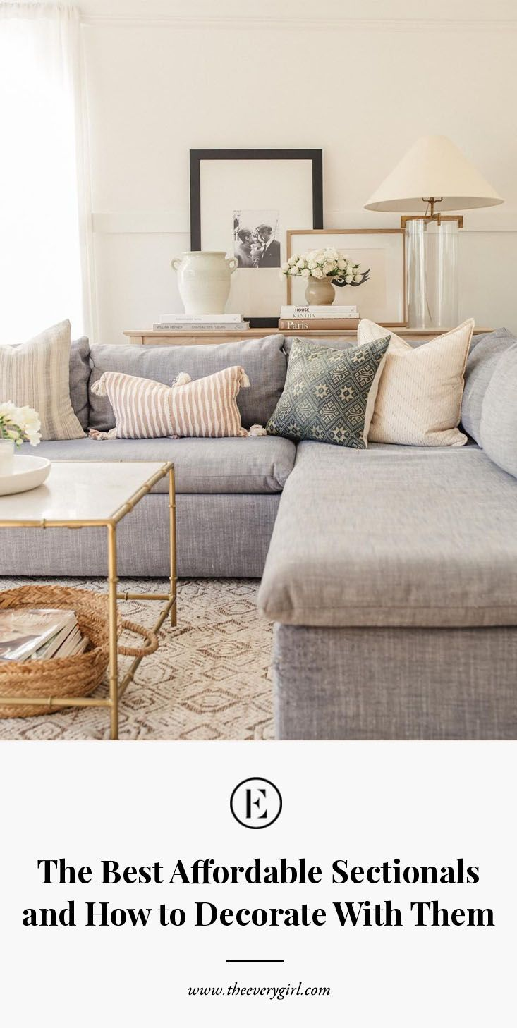 The Best Affordable Sectionals + How to Decorate With Them #hausdekowohnzimmer