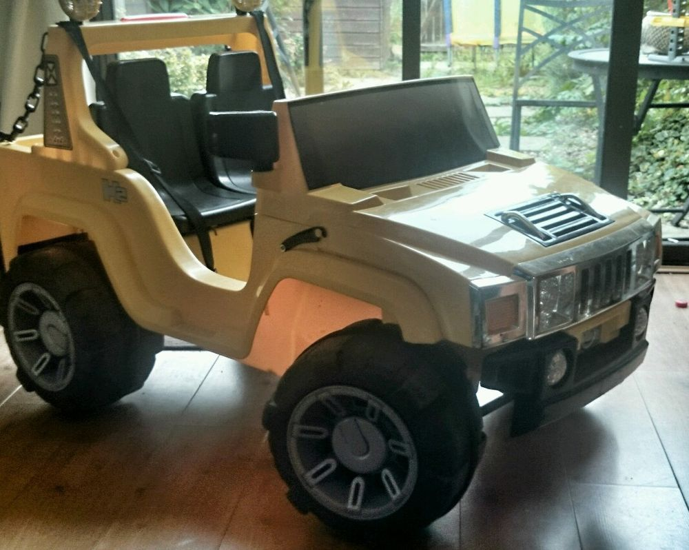 Electric car hummer 4x4 12v 2 seater jeep outside fun kids toys drive and play