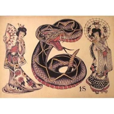 Image Result For Sailor Jerry Geisha Tattoo Traditional Tattoos
