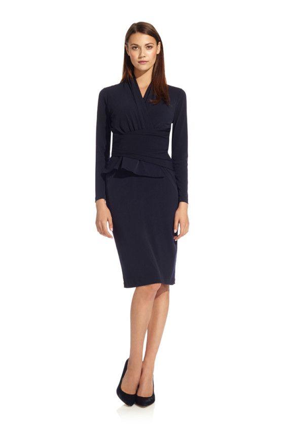8a913135f22 Arlington Dress Navy Jersey | Getting Dressed | Dresses, Peplum ...
