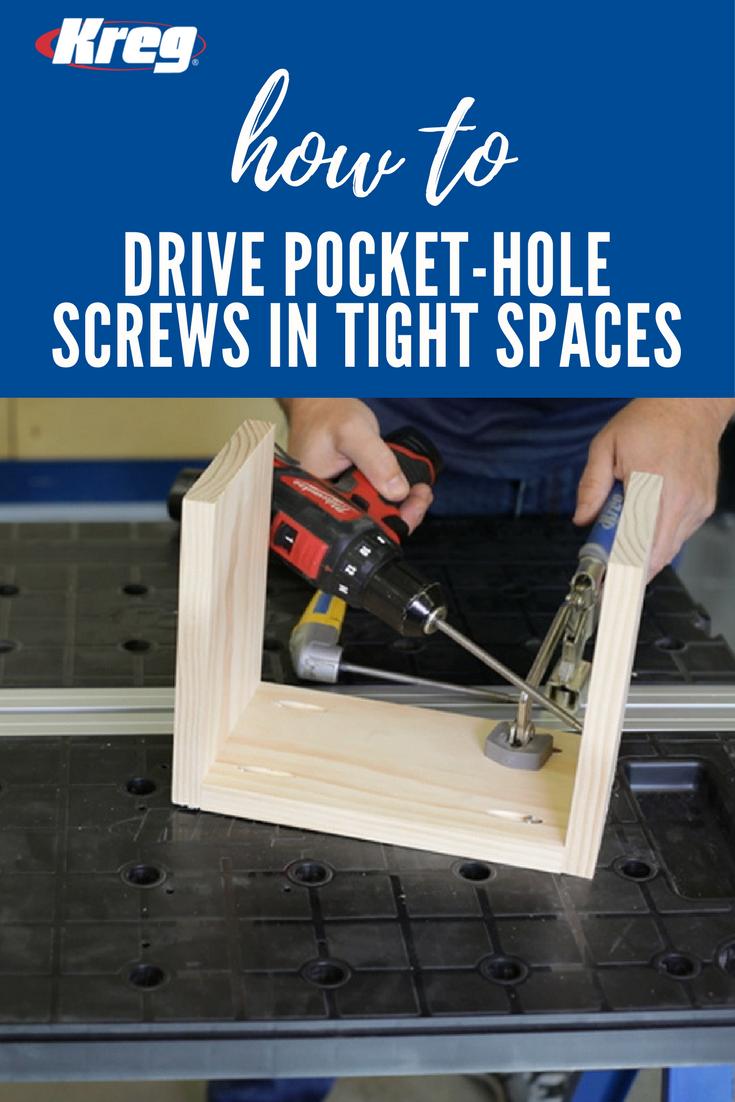 Using Regular Screws With Kreg Jig