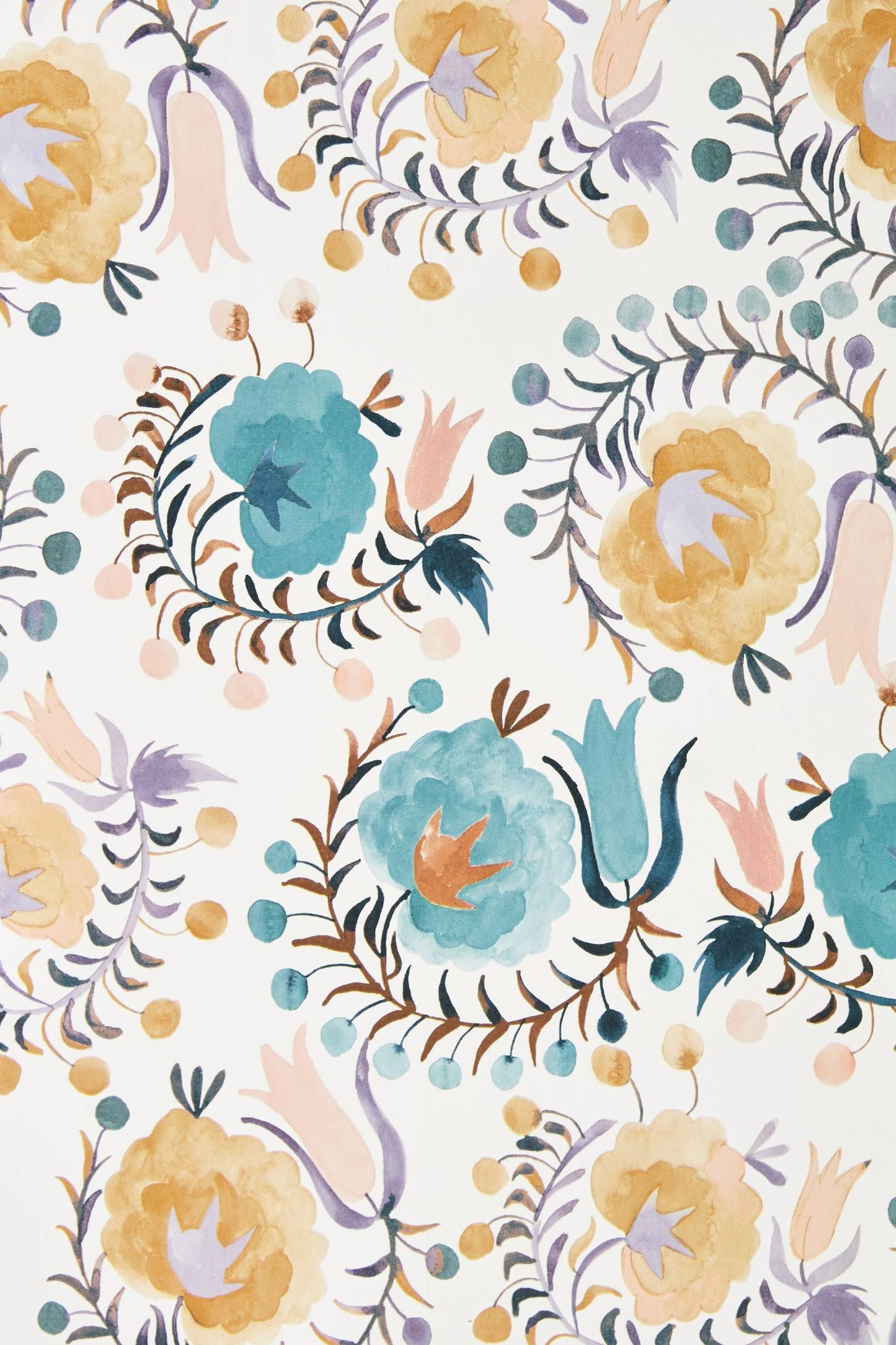 Anthropologie Meze Wallpaper Peony Wallpaper Floral Wallpaper Anthropologie Wallpaper