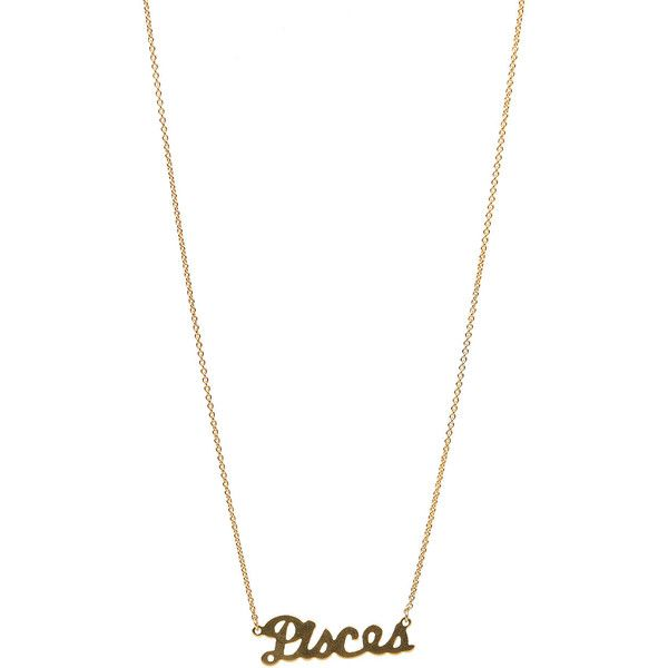 1970s Style Retro Gold Pisces Zodiac Charm Necklace (21 CAD) ❤ liked on Polyvore featuring jewelry, necklaces, gold, gold star necklace, 24k gold necklace, gold chain link necklace, gold charm necklace and 24 karat gold jewelry
