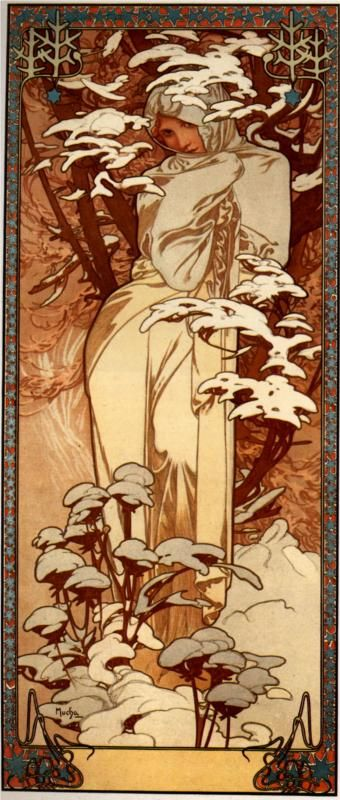 Chocolat Ideal By Alphonse Mucha Art Nouveau Poster Alphonse
