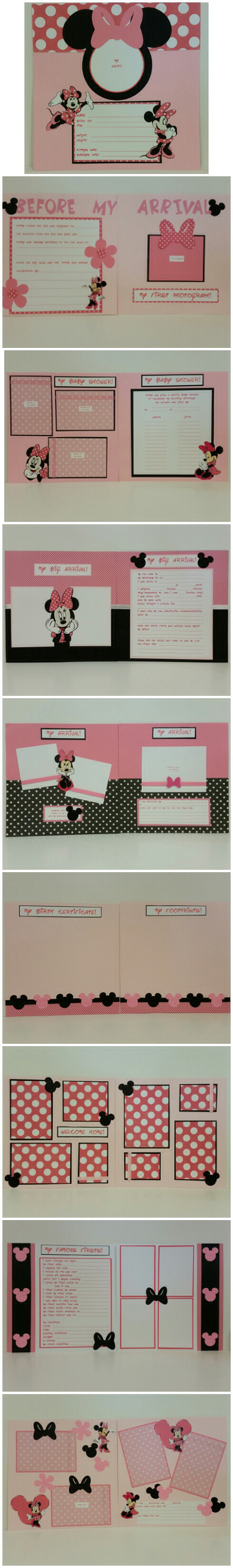 Minnie Mouse Baby Book Scrapbook Album Minnie Mouse Baby Book And