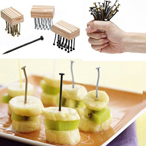 Cool Nails Shape Fruit Fork Reusable Party Picks GBz-14…