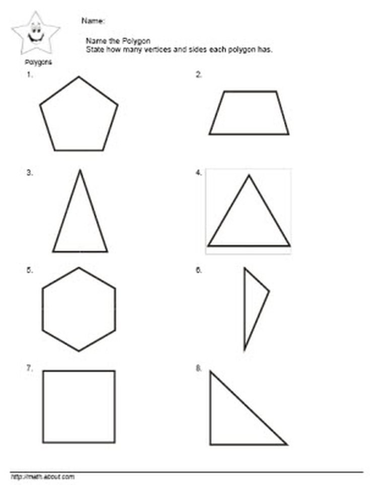 2nd Grade symmetry worksheets for 2nd grade : 2nd Grade Math: Teach the Kids Polygons With These Nifty ...