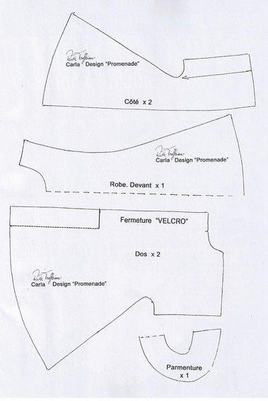 patrons pour vetements carla poupees artiste treffeisen n hen pinterest patron robe. Black Bedroom Furniture Sets. Home Design Ideas