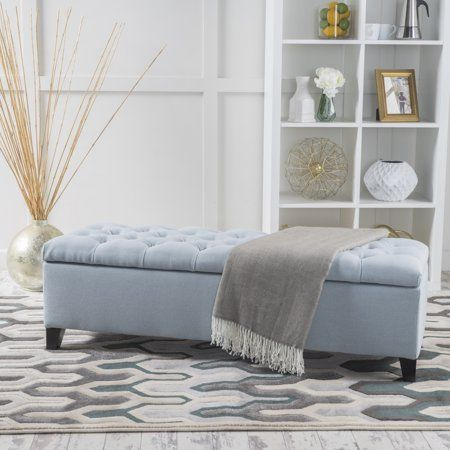 Fine Noble House Paskal Tufted Fabric Storage Ottoman Light Sky Unemploymentrelief Wooden Chair Designs For Living Room Unemploymentrelieforg