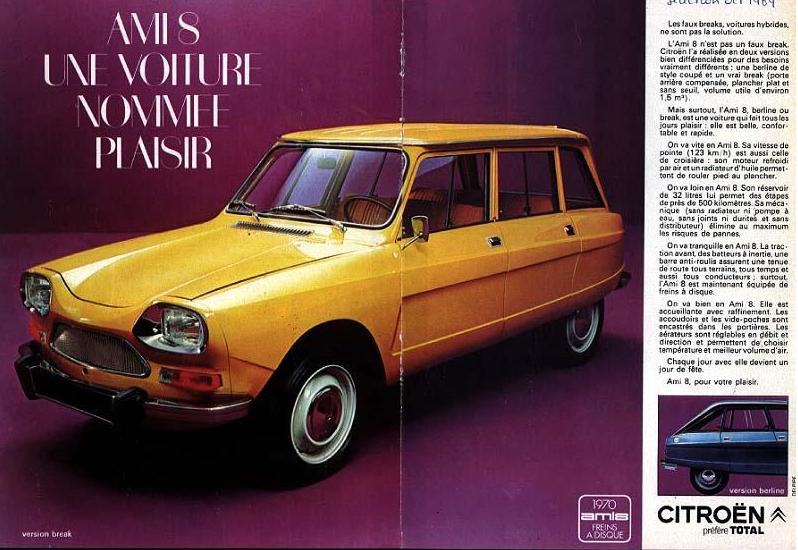 citro n ami 8 break 1969 publicit s voitures de marques fran aises voiture voiture. Black Bedroom Furniture Sets. Home Design Ideas