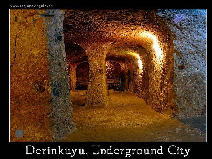 Turkey Underground city of Derinkuyu by Tony DeLiso, via Slideshare