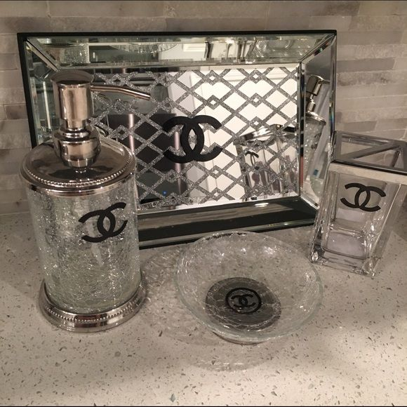 chanel bathroom set | room, dorm and dorm room