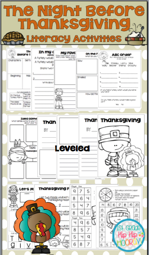 Wang and Pilkey both have wonderful stories about the Night Before Thanksgiving.  Enjoy these activities the accompany them. http://hensonsfirstgrade.blogspot.com/2016/11/the-night-before-thanksgivingwang-and.html