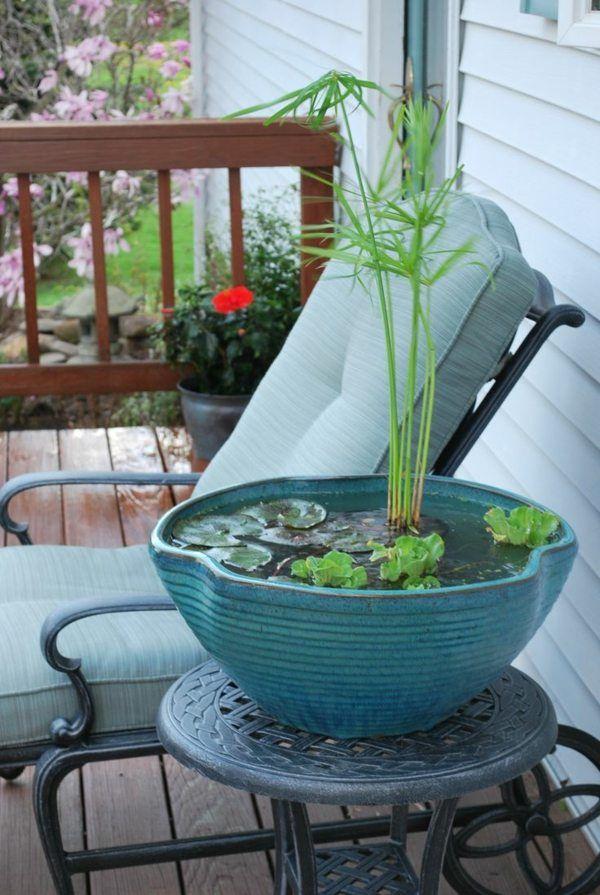 mini bassin original pour plantes aquatiques deco maison indoor water garden container. Black Bedroom Furniture Sets. Home Design Ideas
