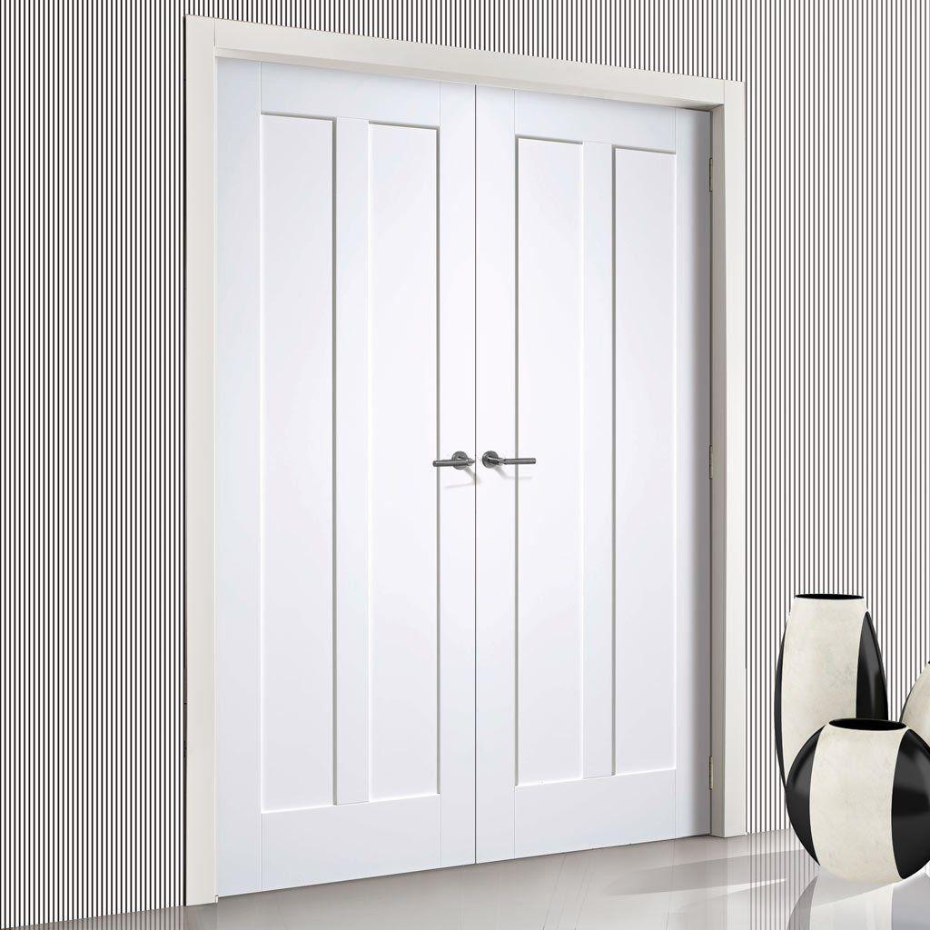 & Maine White Primed 2 Panel Door Pair   Doors pezcame.com