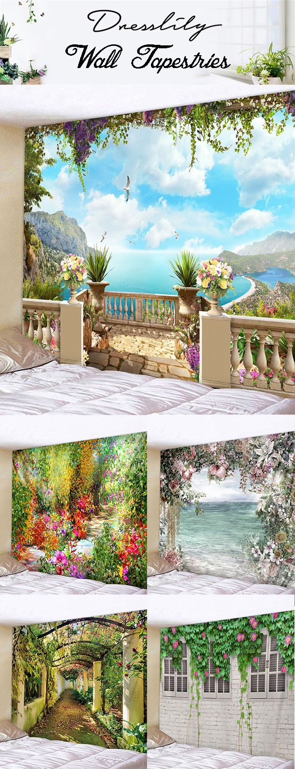 Easy home-decor Living Room is part of Living Room Decorating Ideas Real Simple - Wall Decorative Flower Printing Hanging Tapestries