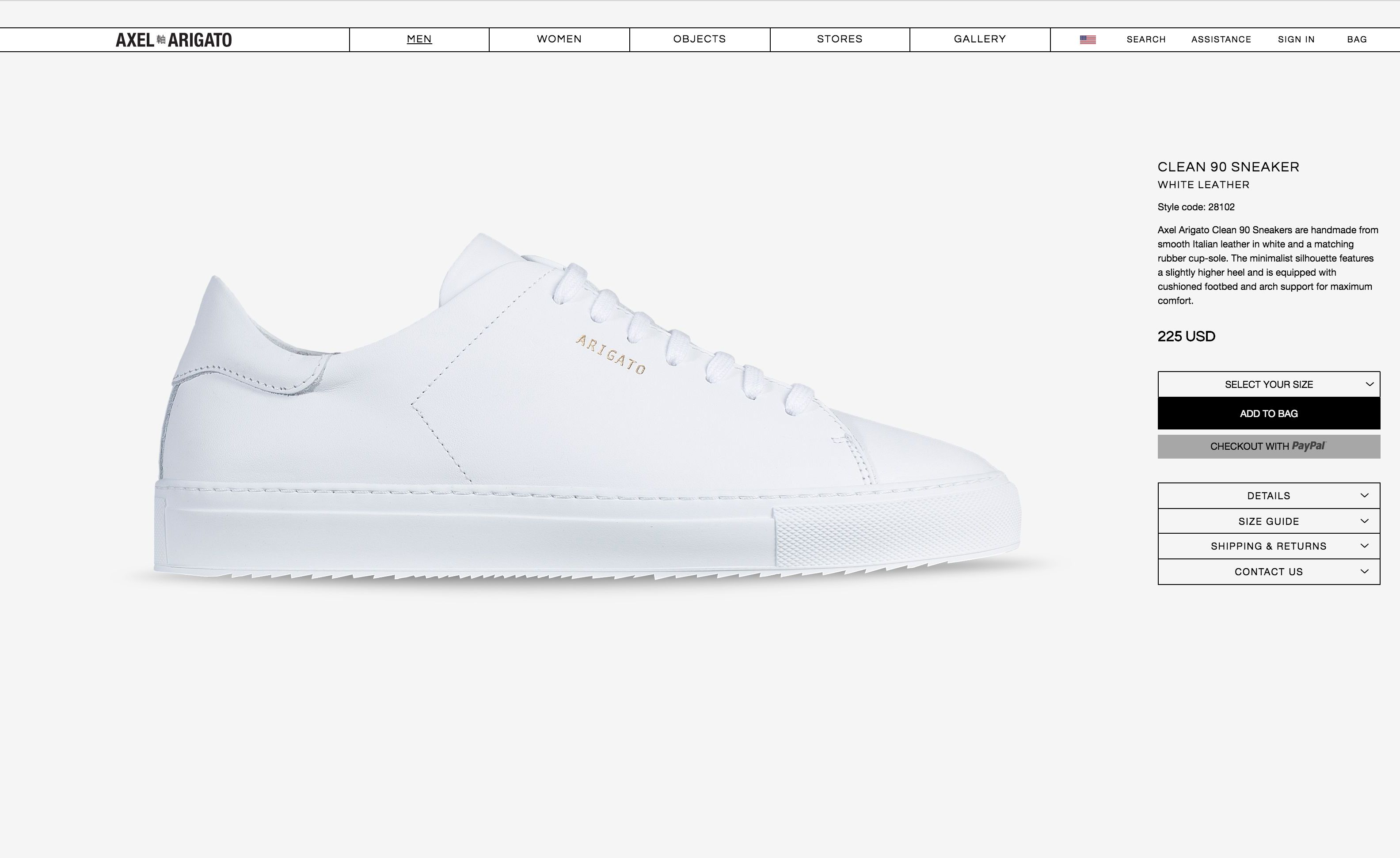 Common Projects Style: Axel Arigato