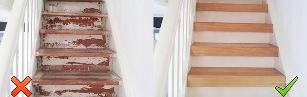 Treppensanierung Mit Miholzstufen Treppe Renovierenaltes